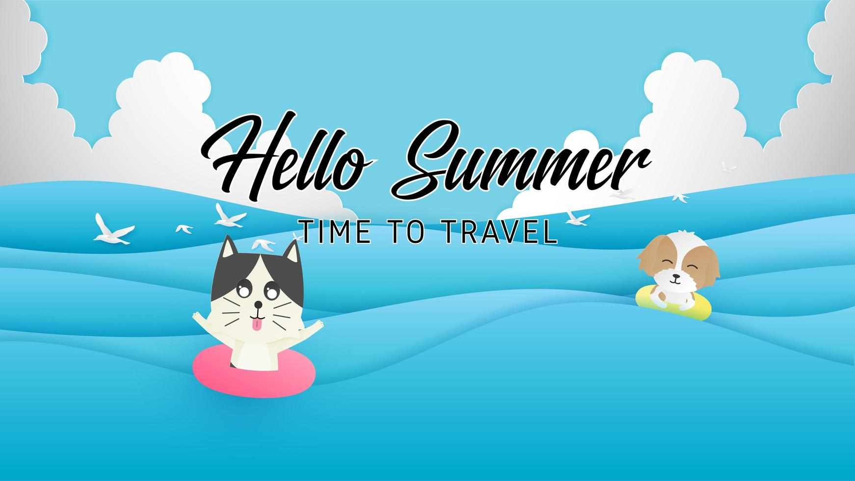 affiche de voyage d'été vecteur