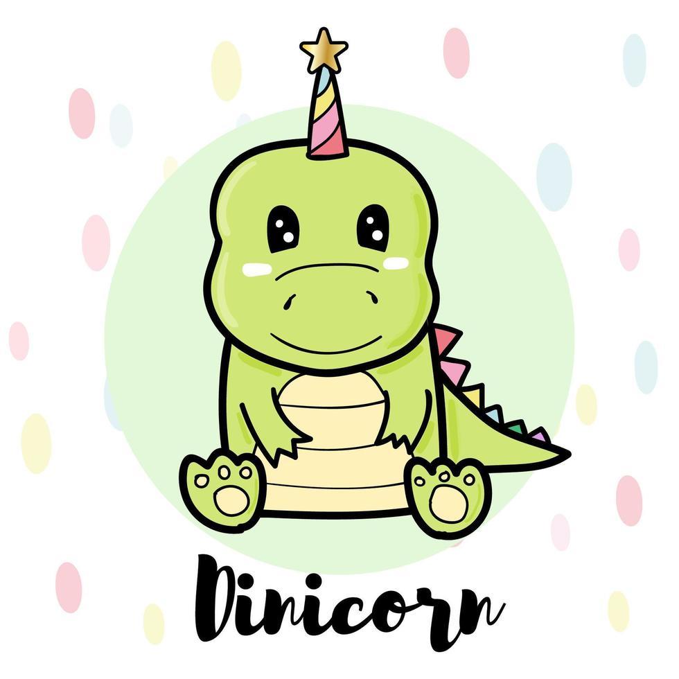 personaggio di dinosauro verde vettore