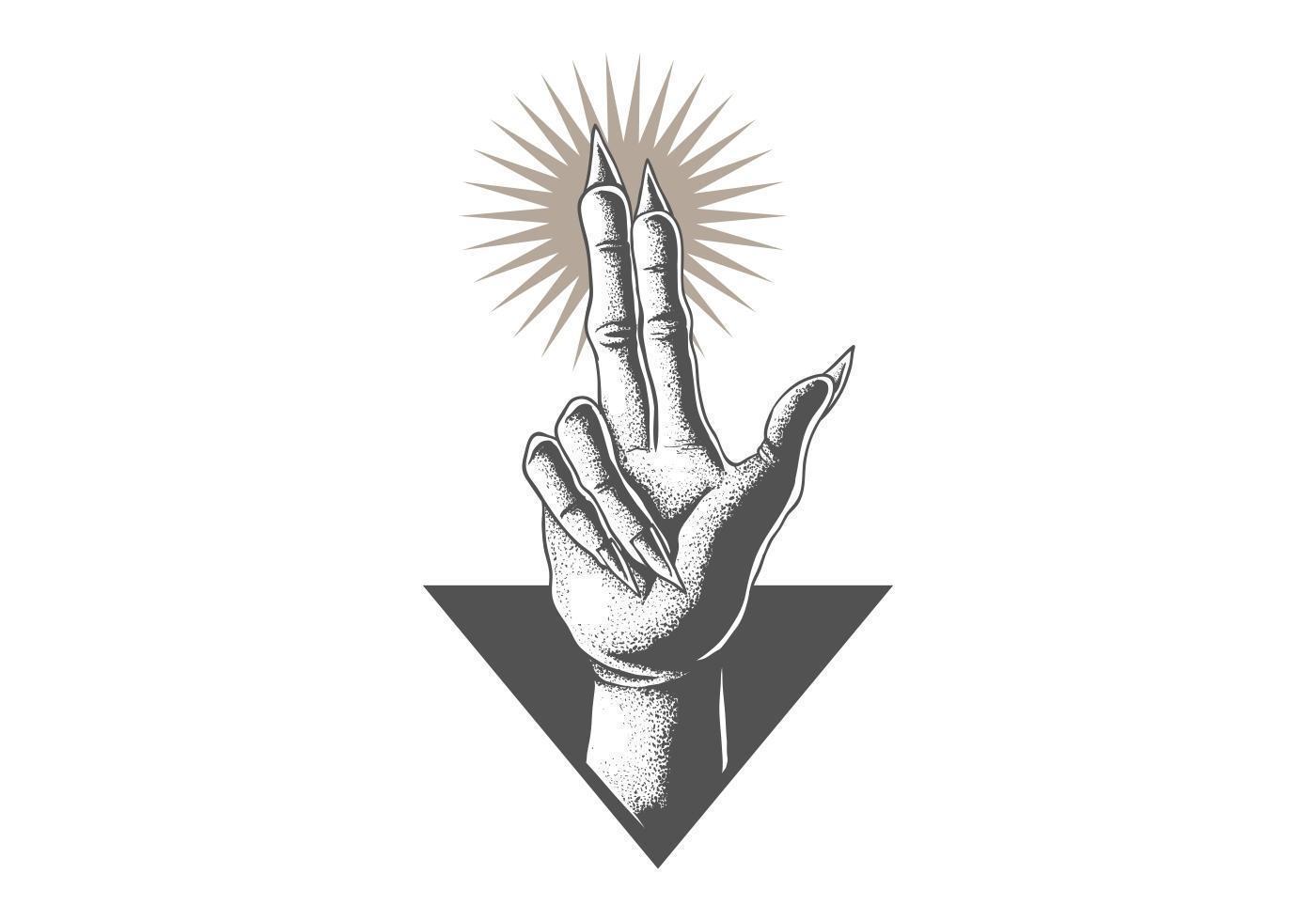 main en satanique vecteur