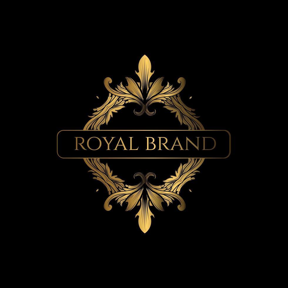 création de logo orné de luxe vecteur