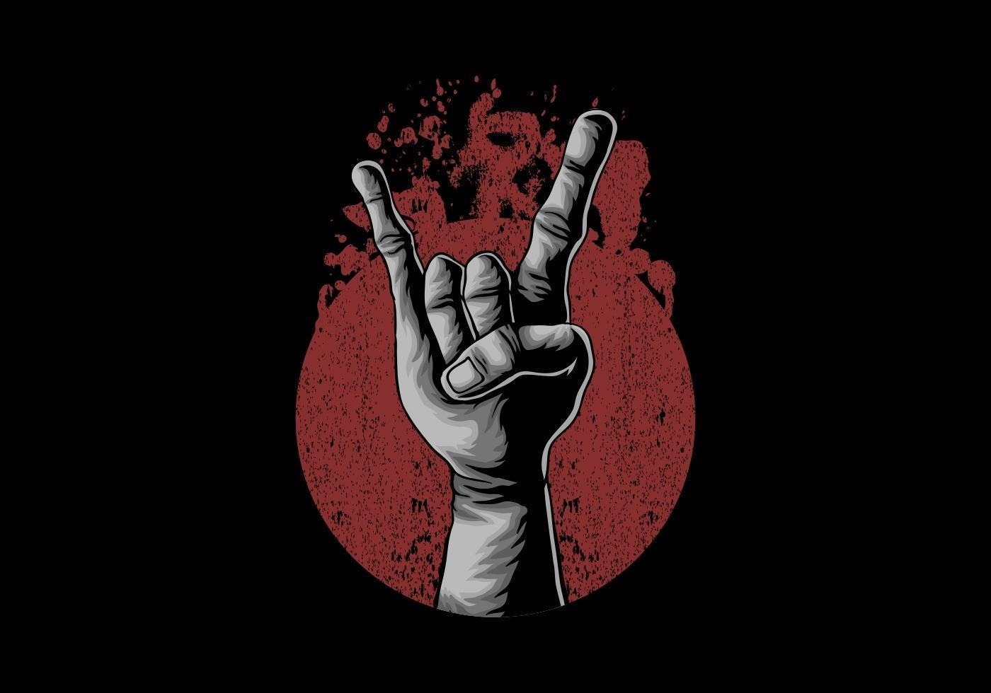Hand in rock vector