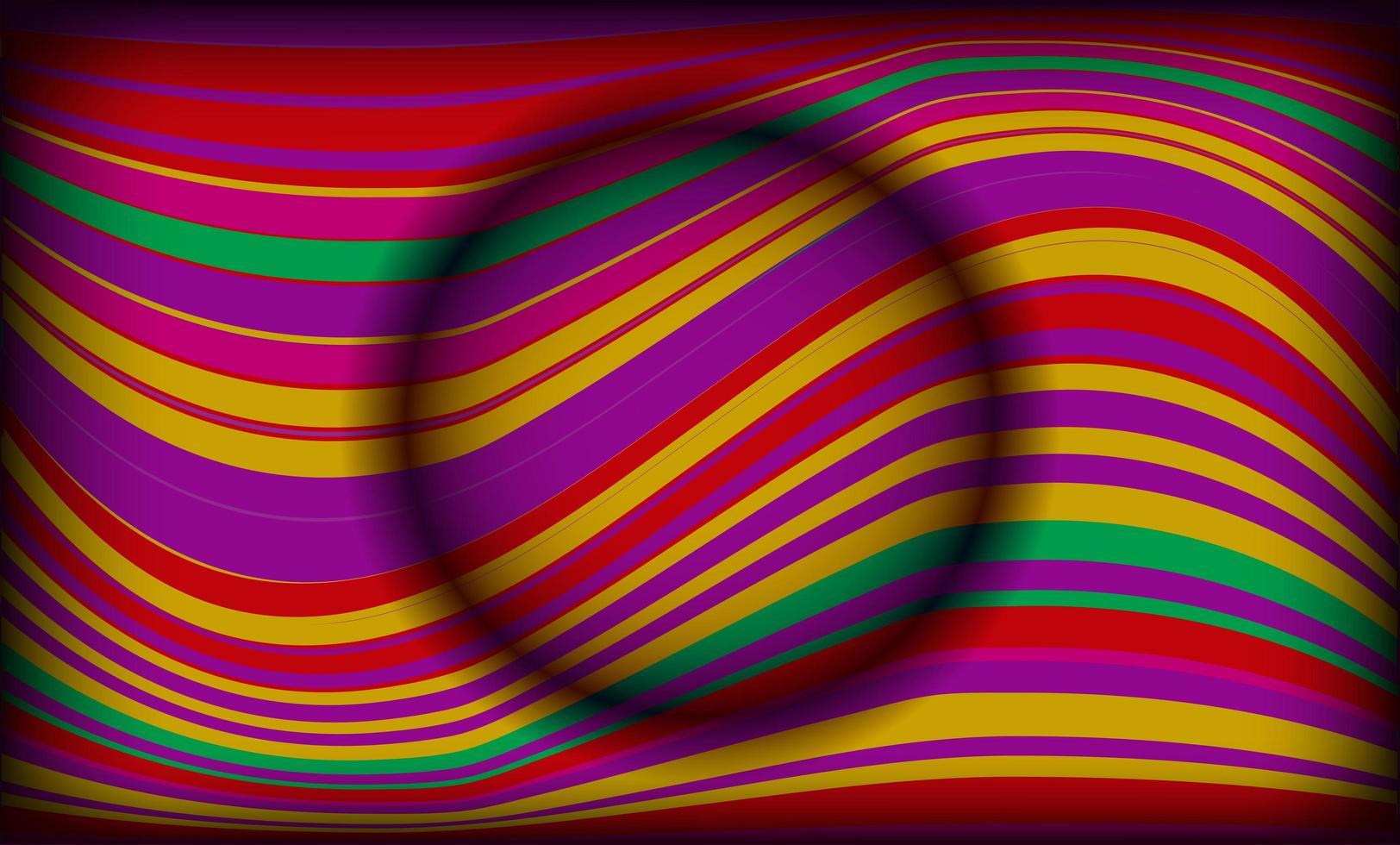 línea ondulada globo vector