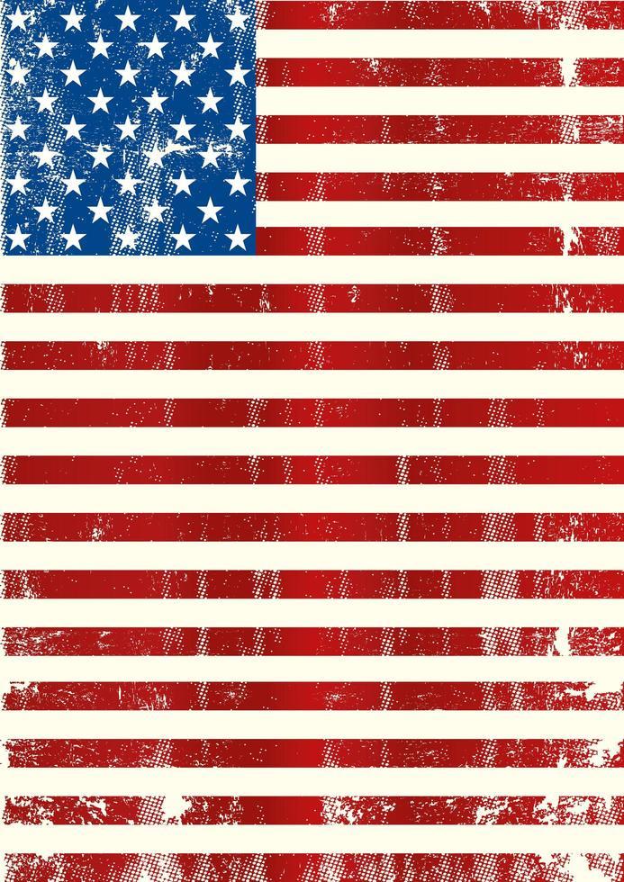 drapeau américain grungy vertical vecteur