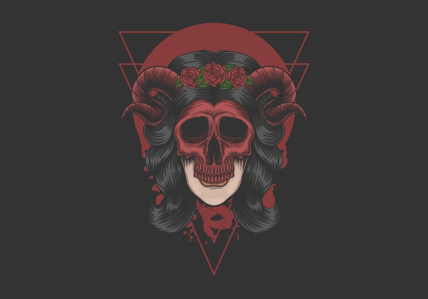 masque de démon femme vecteur