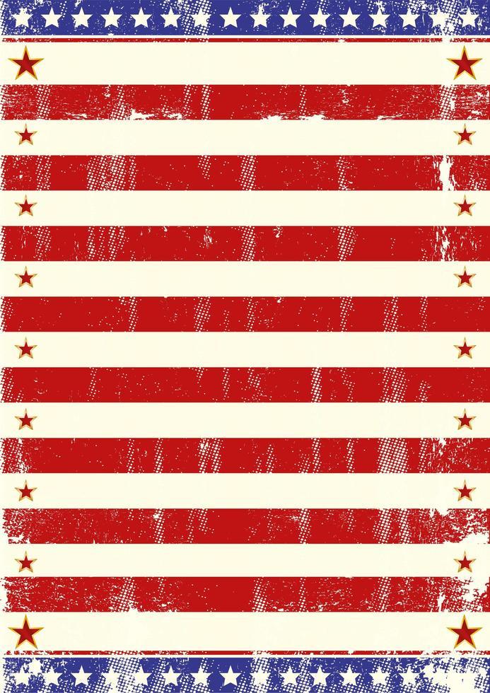 cartel de estrellas del tema de la bandera americana vector
