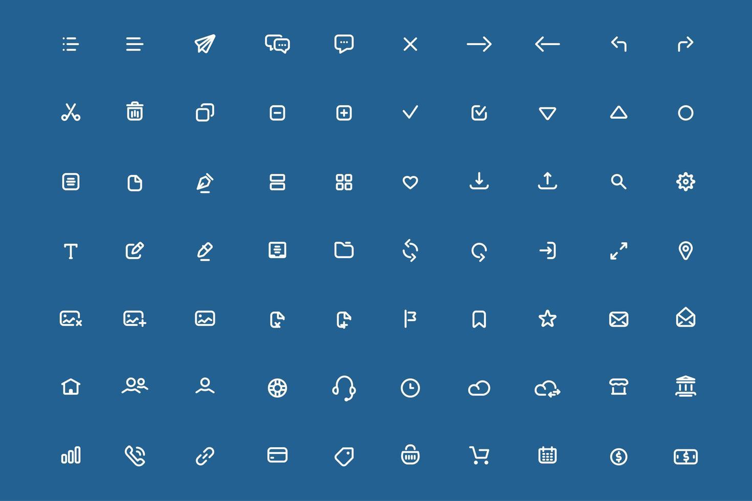 ensemble d'icônes d'applications mobiles minimales. vecteur