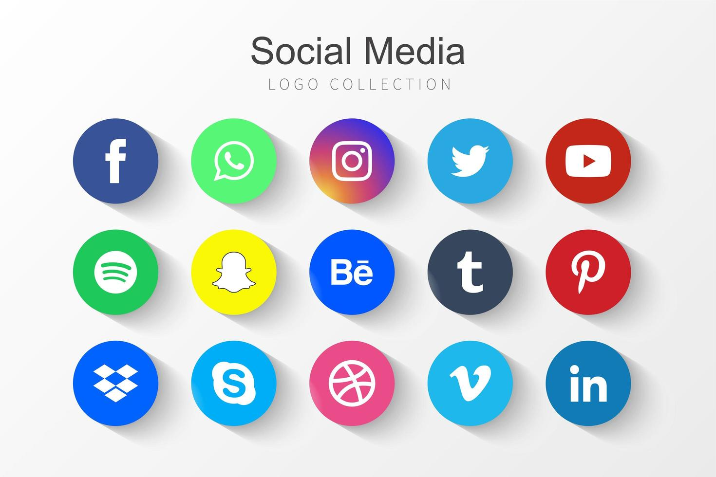 icone di social network vettore