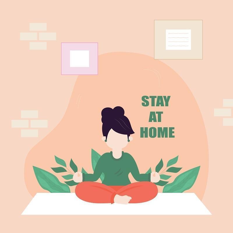 illustrazione vettoriale di una donna che fa yoga