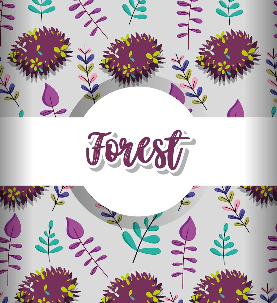fond motif floral vecteur