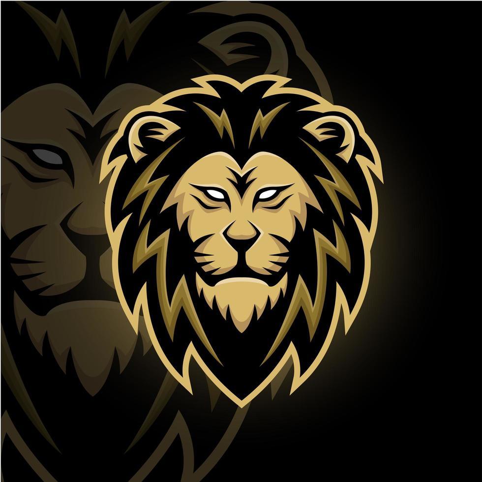 mascota de cabeza de león vector