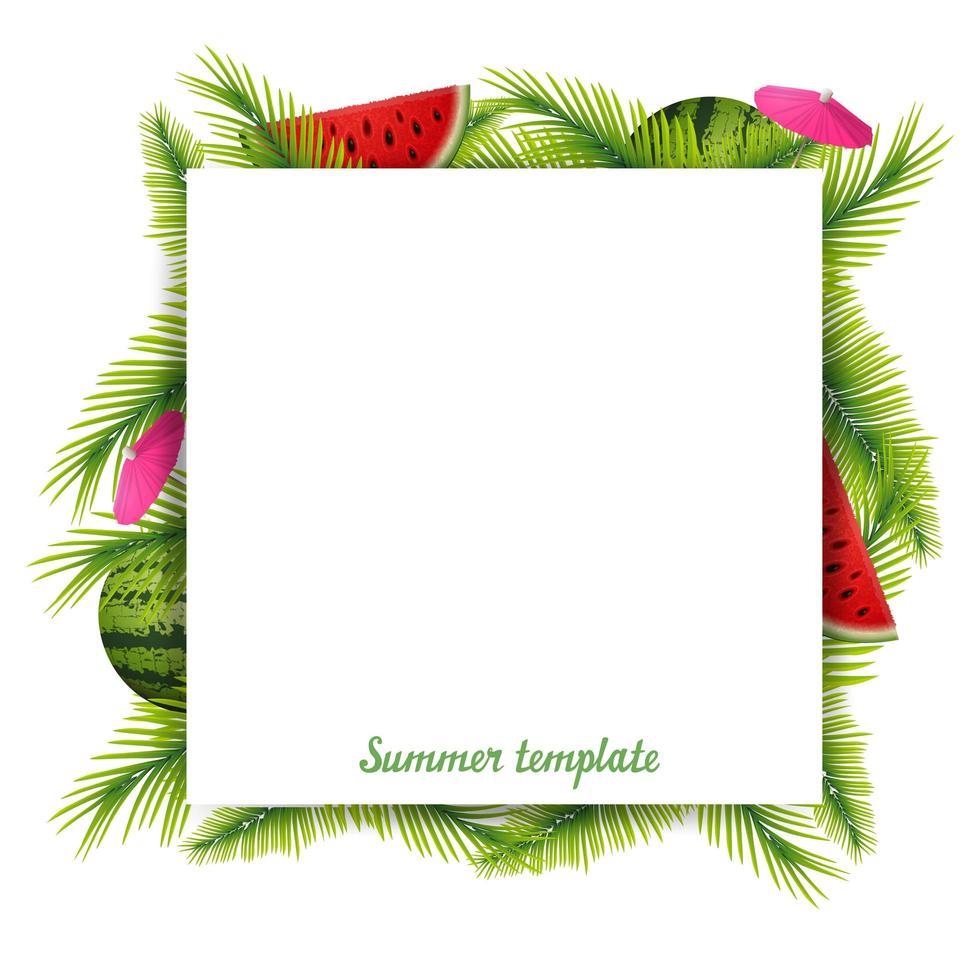 modello in bianco tropicale vettore