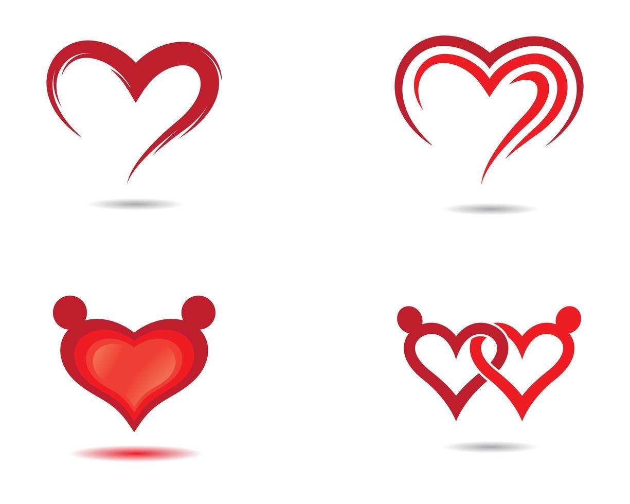 set di icone di amore vettore