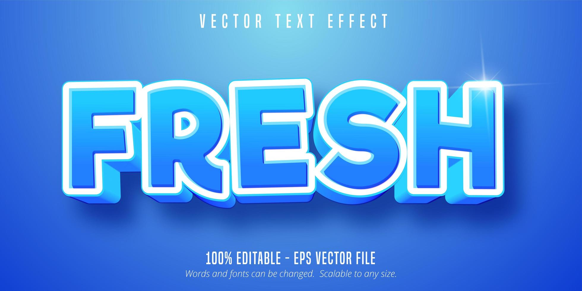 efecto de texto editable azul vector