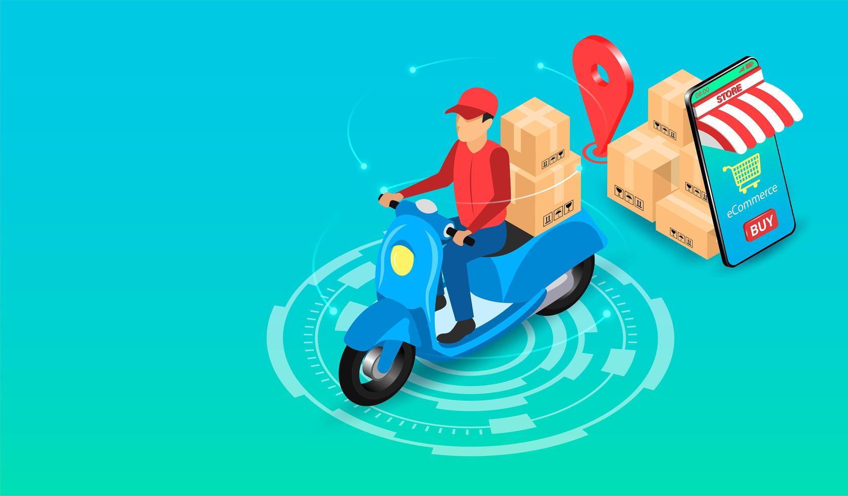 concept express de livraison vecteur