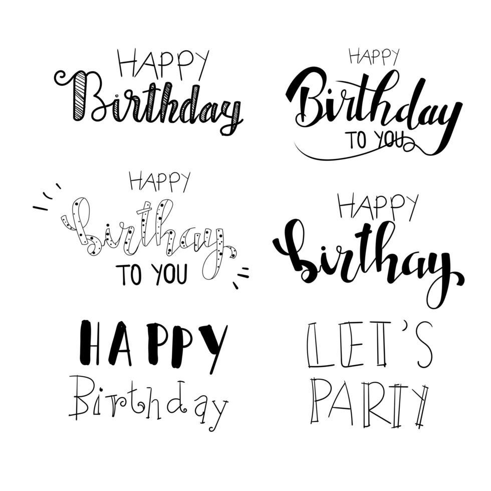 tipografia di compleanno scritta a mano vettore