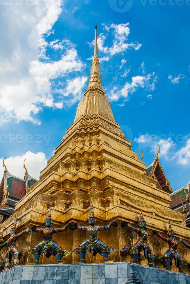 Golden pagoda in Wat Pra Keaw , Bangkok photo