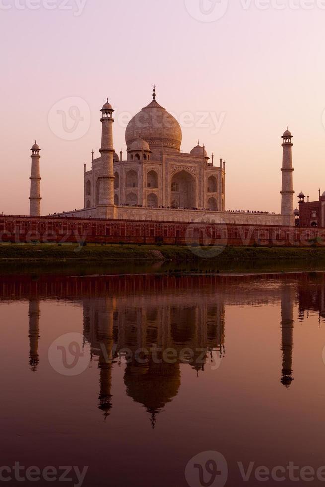 Sunset at the Taj Mahal photo