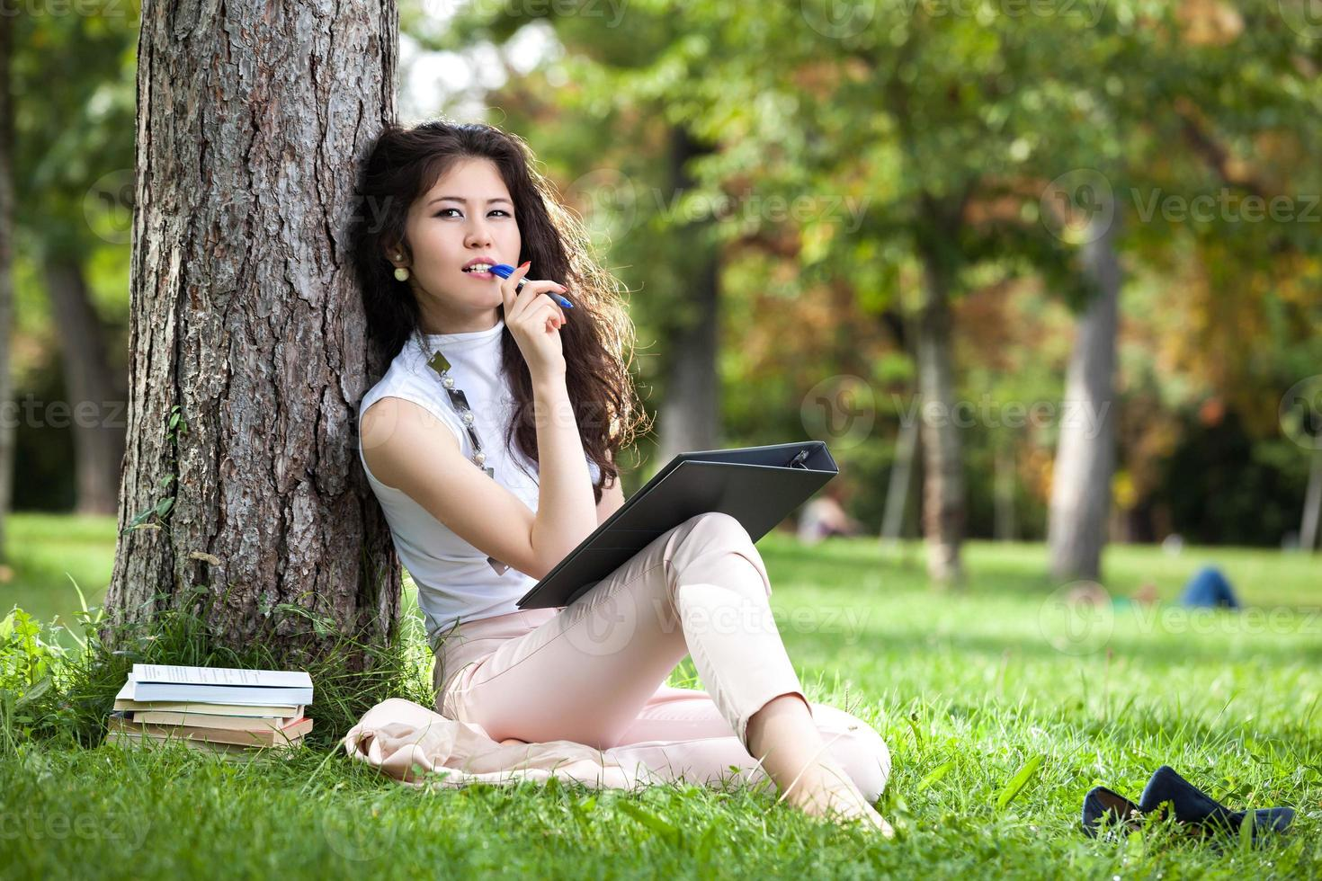 young woman writing photo