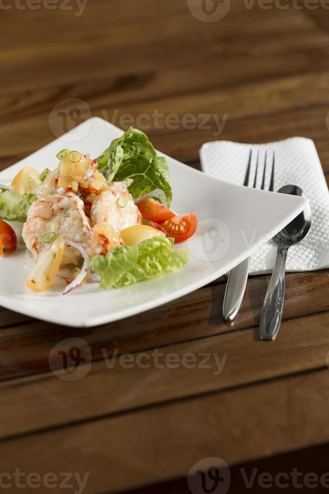 Cream prawn photo