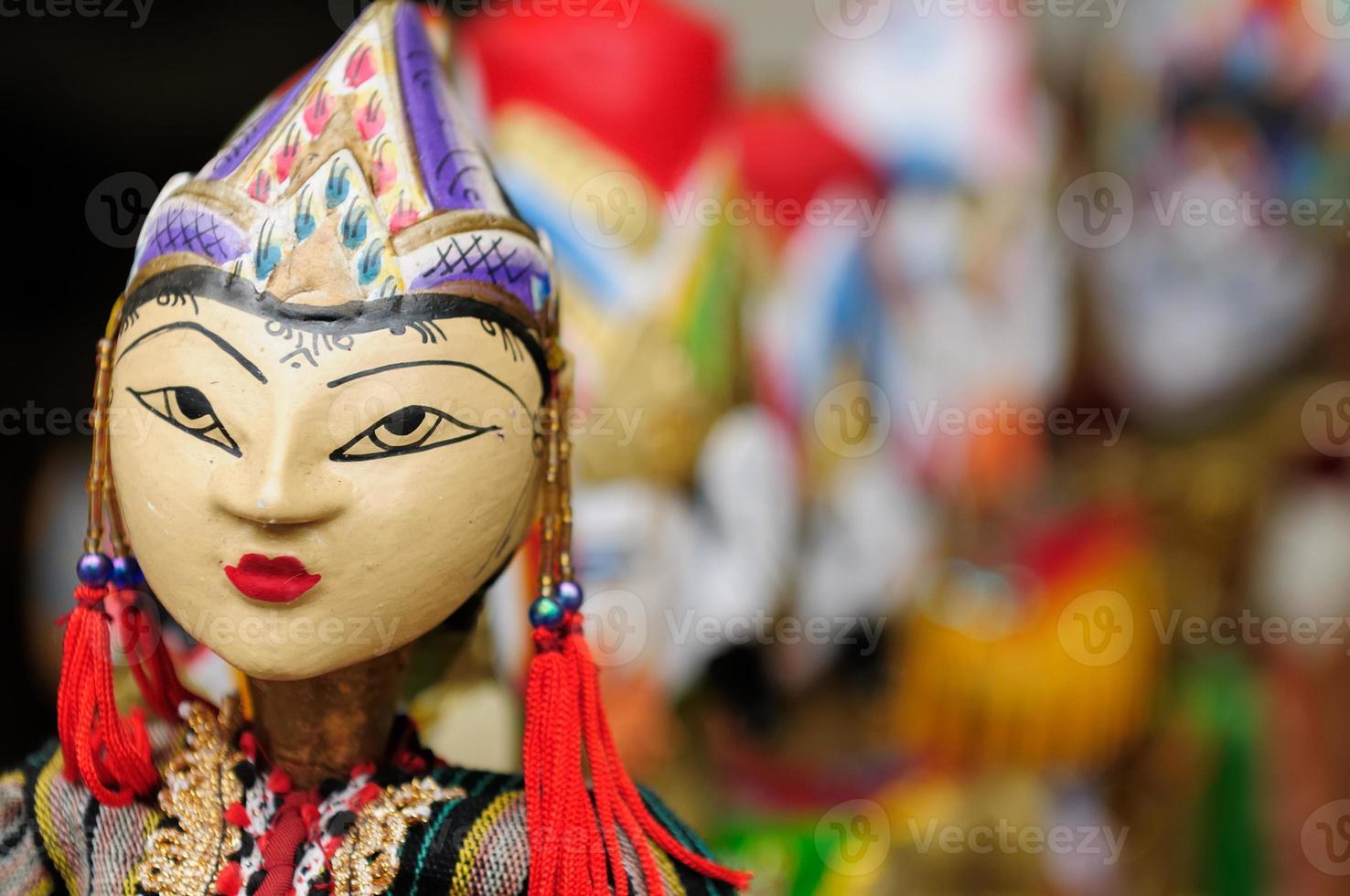 Indonesia, Bali, marionetas tradicionales foto