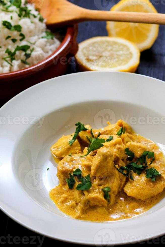 Chicken curry photo