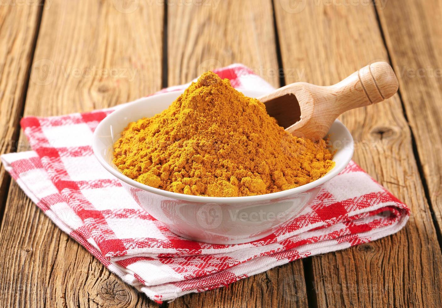 polvo de curry foto