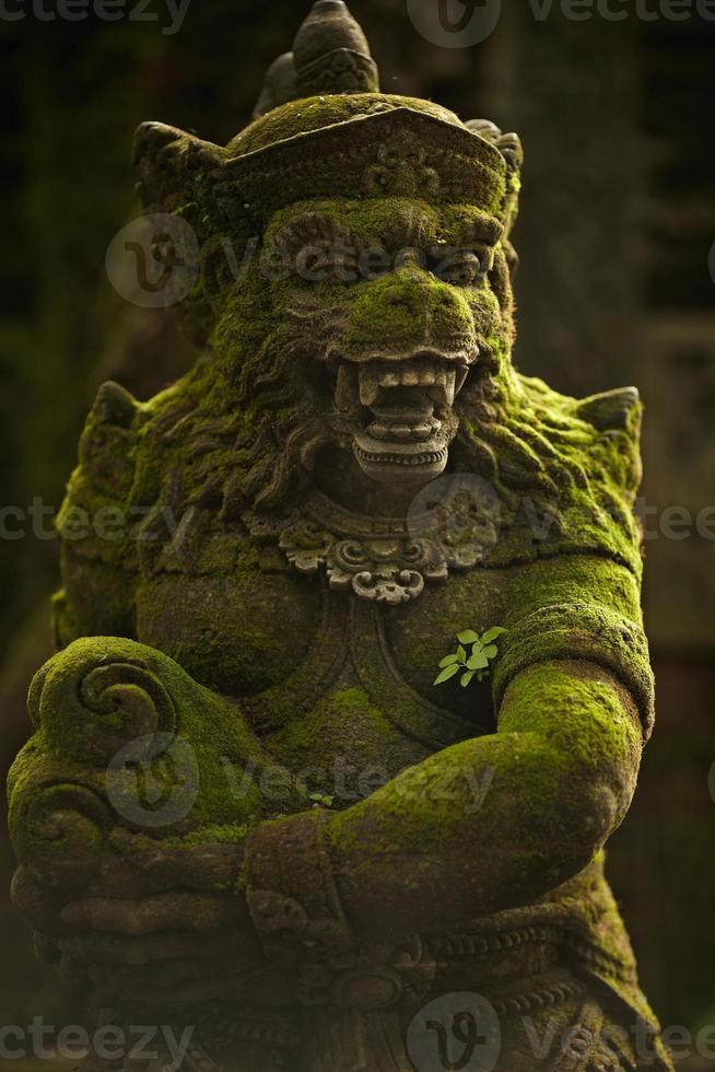 estatua del espíritu balinés en el jardín de los monos foto