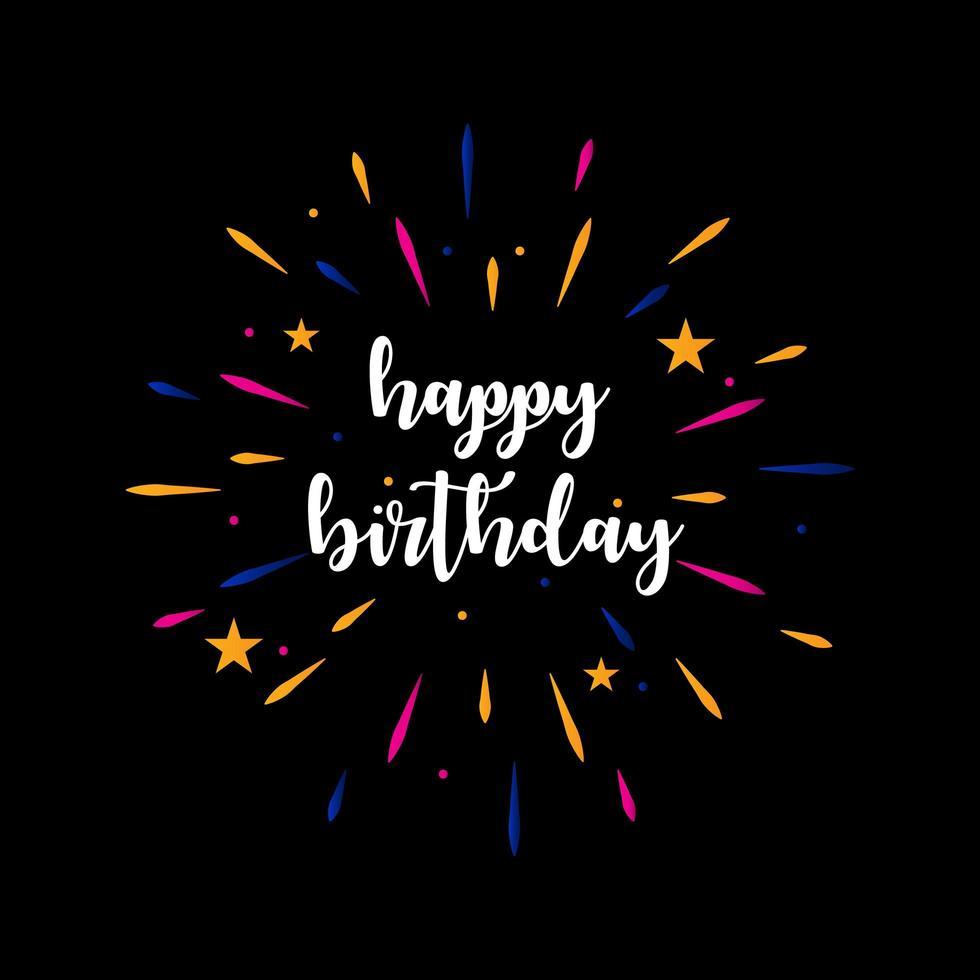 lettrage '' joyeux anniversaire '' salutation vecteur