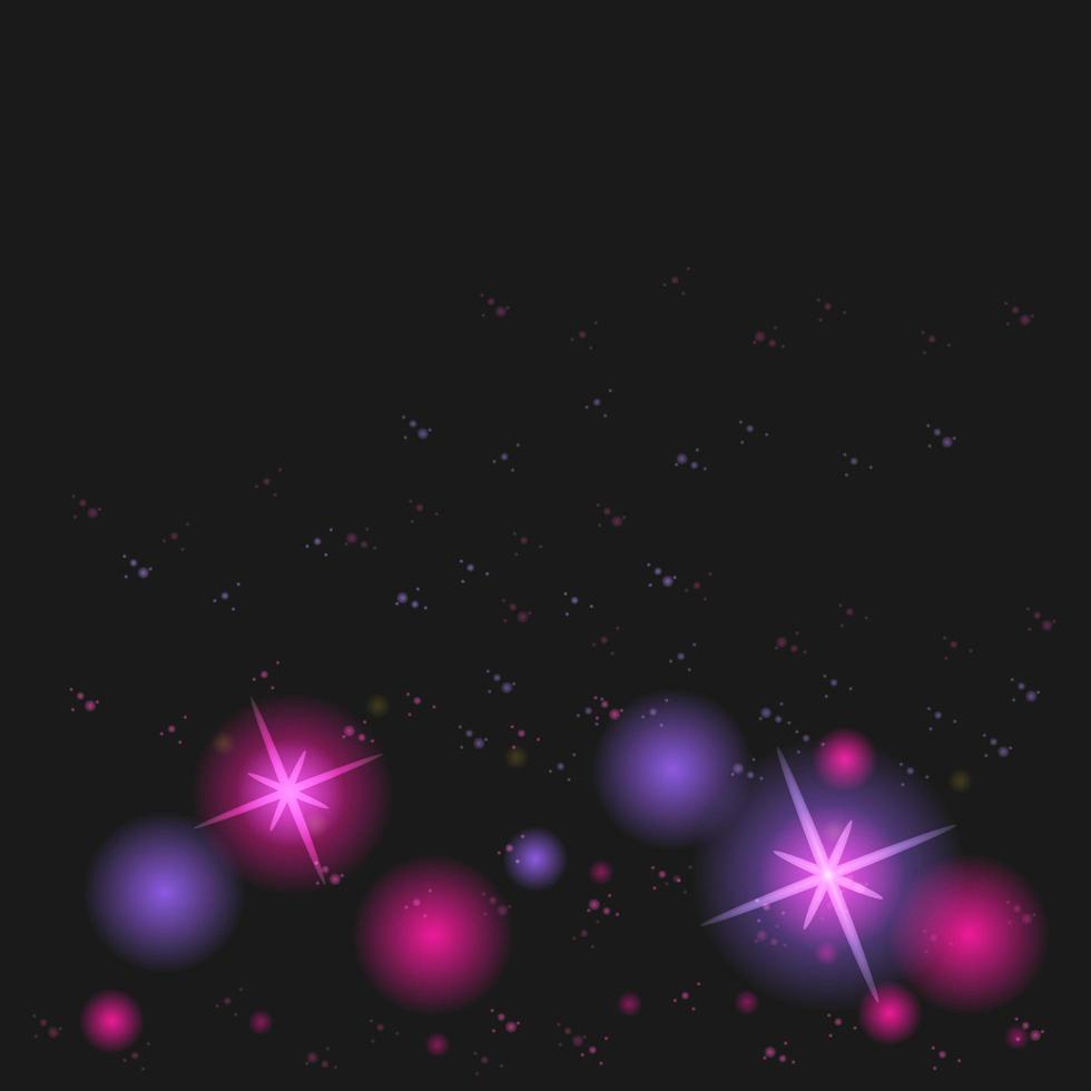 effetto luce viola sparkle bokeh vettore