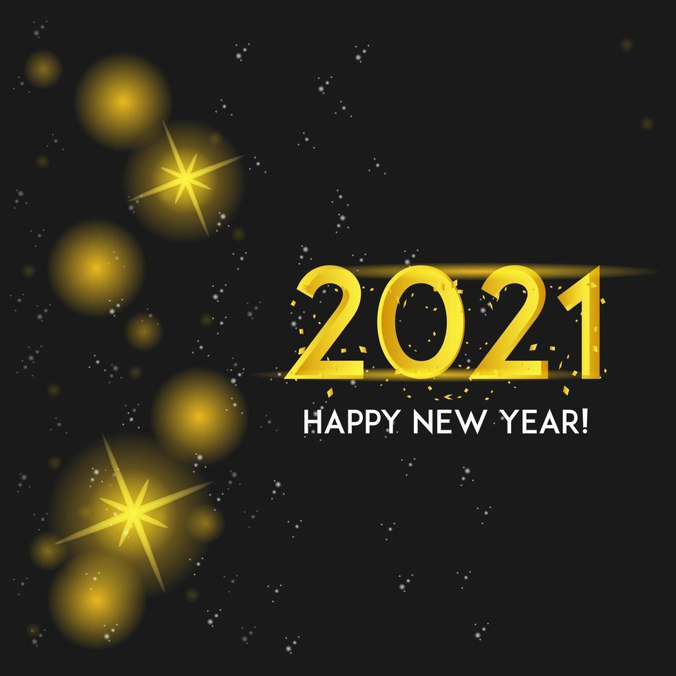 oro 2021 brilla sul nero vettore