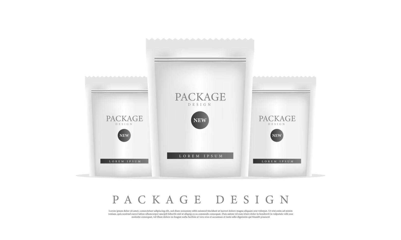 modelos de pacote de saco de marca de maquete vetor