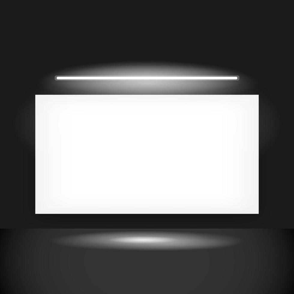 bannière blanche rougeoyante sur fond noir vecteur
