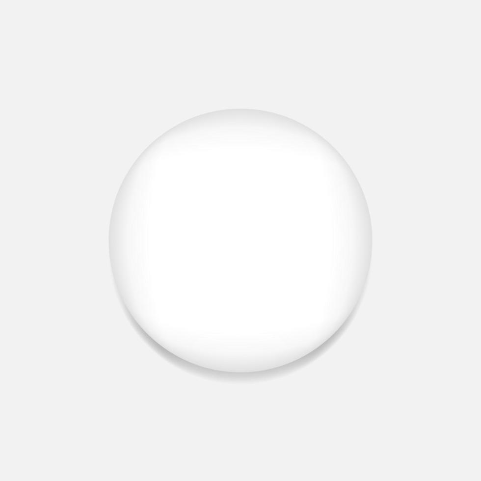 badge épingle blanc réaliste vecteur