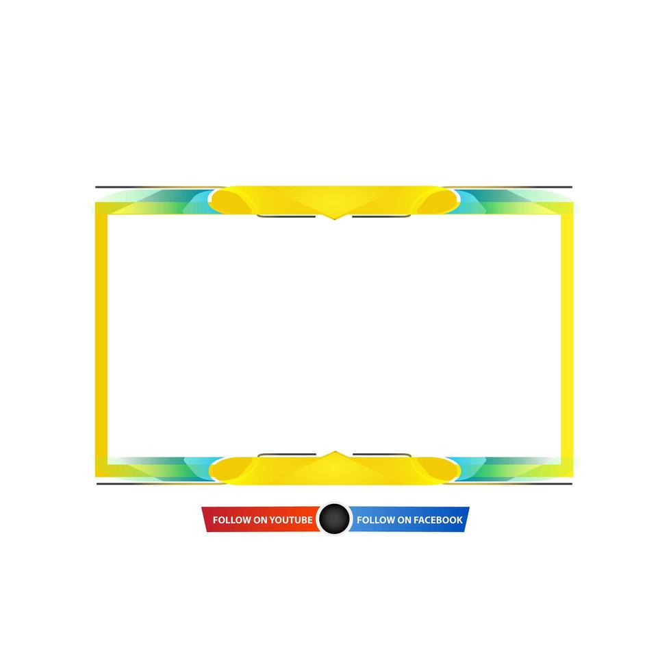 design overlay streaming giallo blu vettore