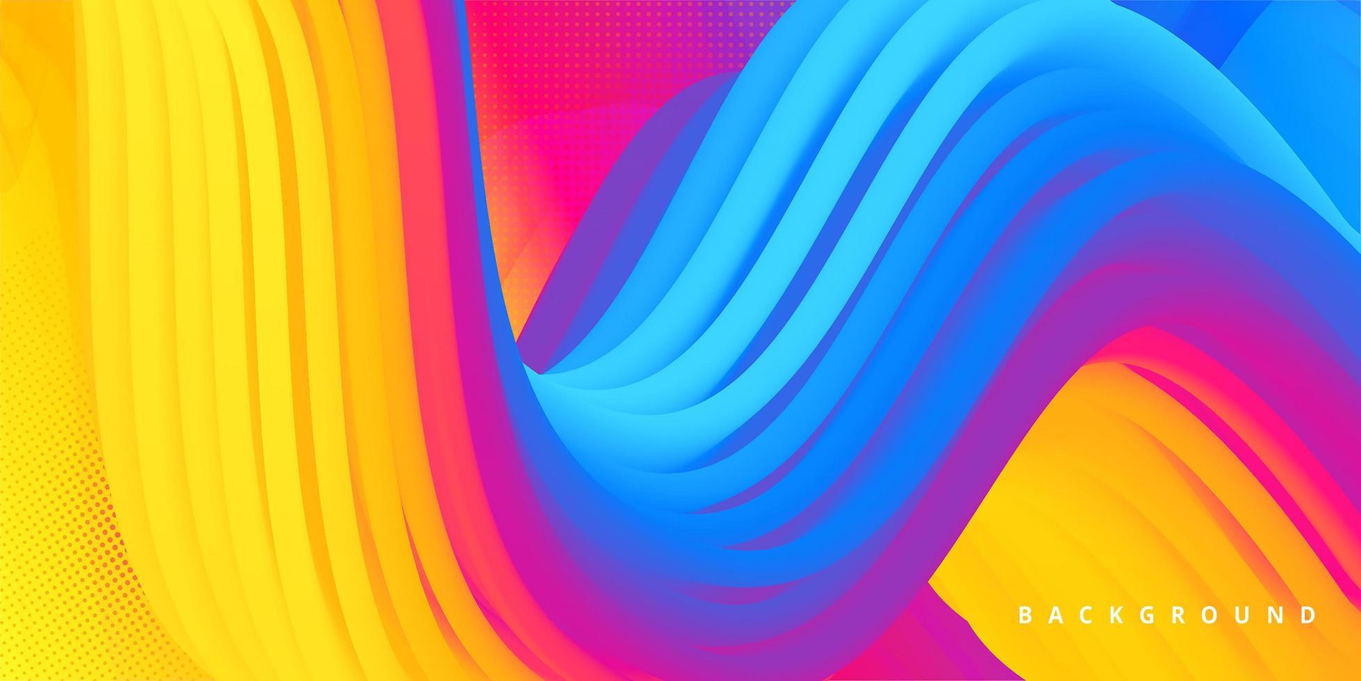 conception de forme de vague colorée abstraite vecteur