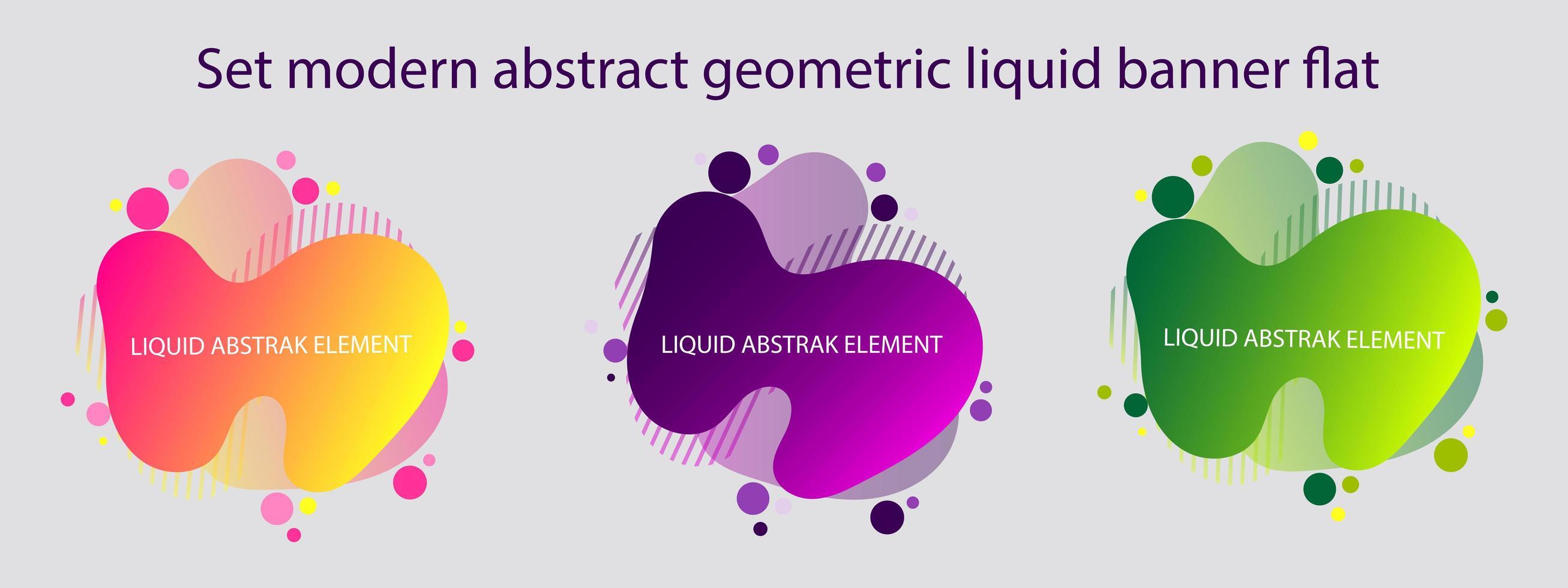 ensemble de bannières liquides géométriques abstraites modernes vecteur