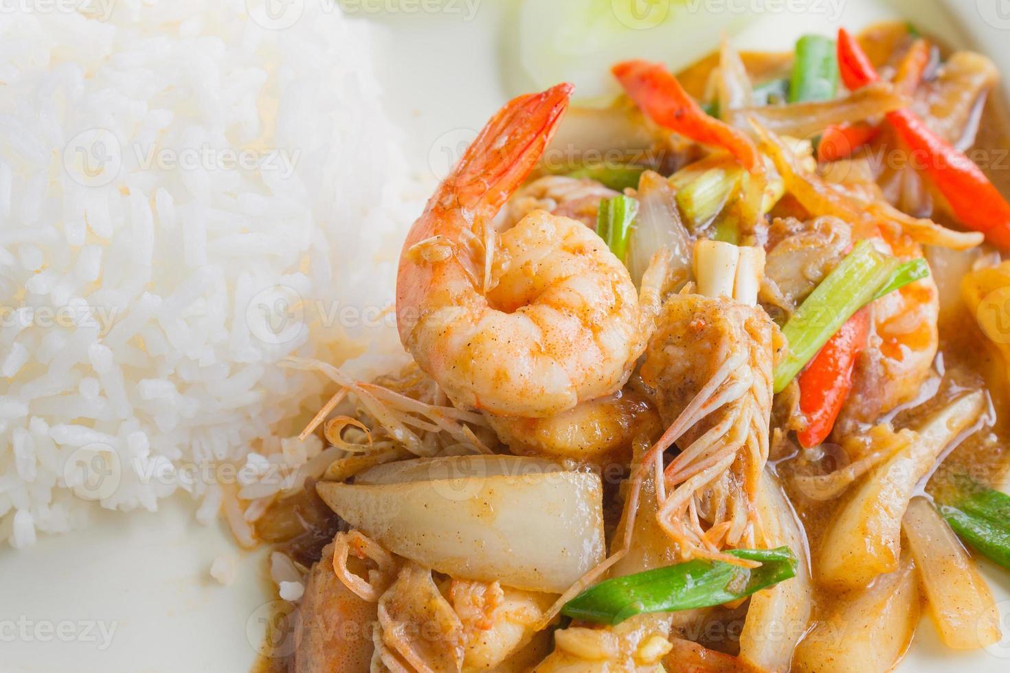 Stir fried pepper with shrimp photo