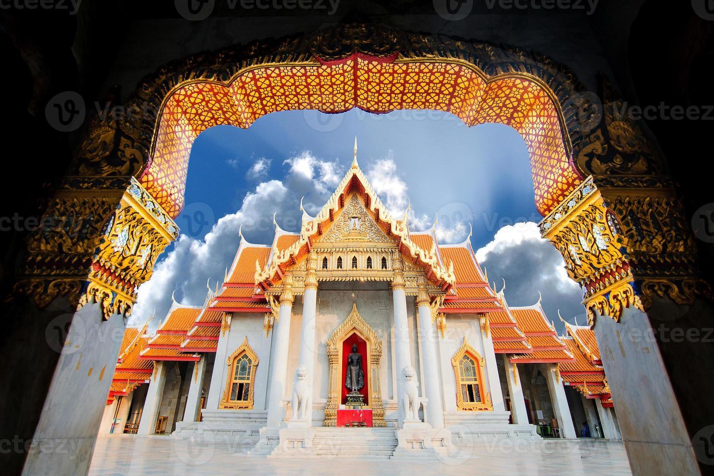 The Marble Temple, Wat Benchamabopitr Bangkok THAILAND photo