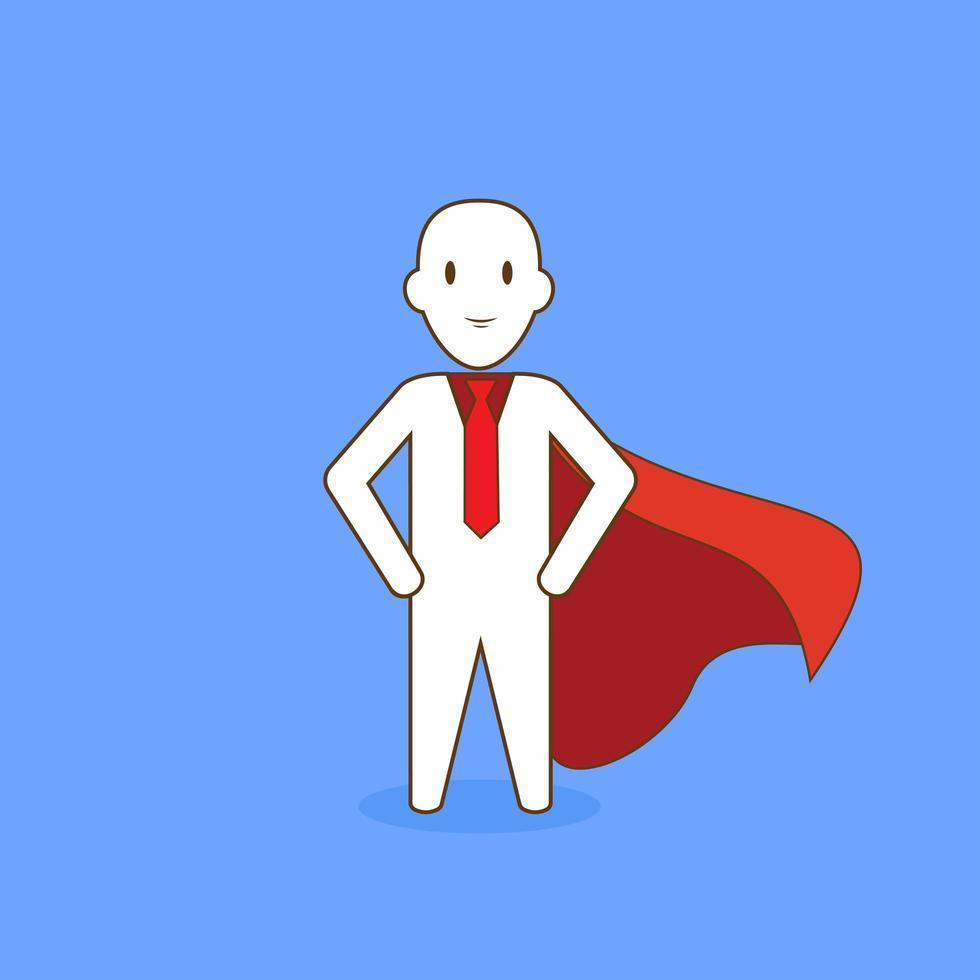 super zakenman met cape vector