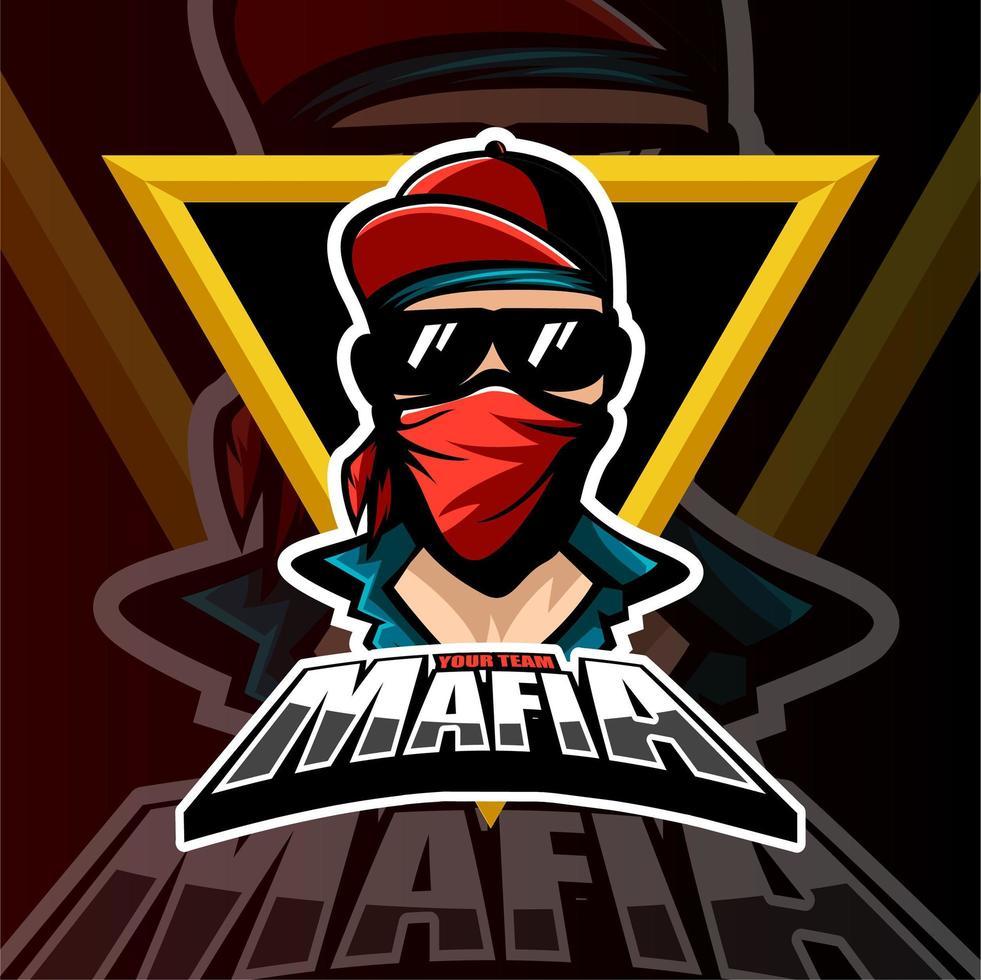 logotipo del equipo mafia gaming esports vector