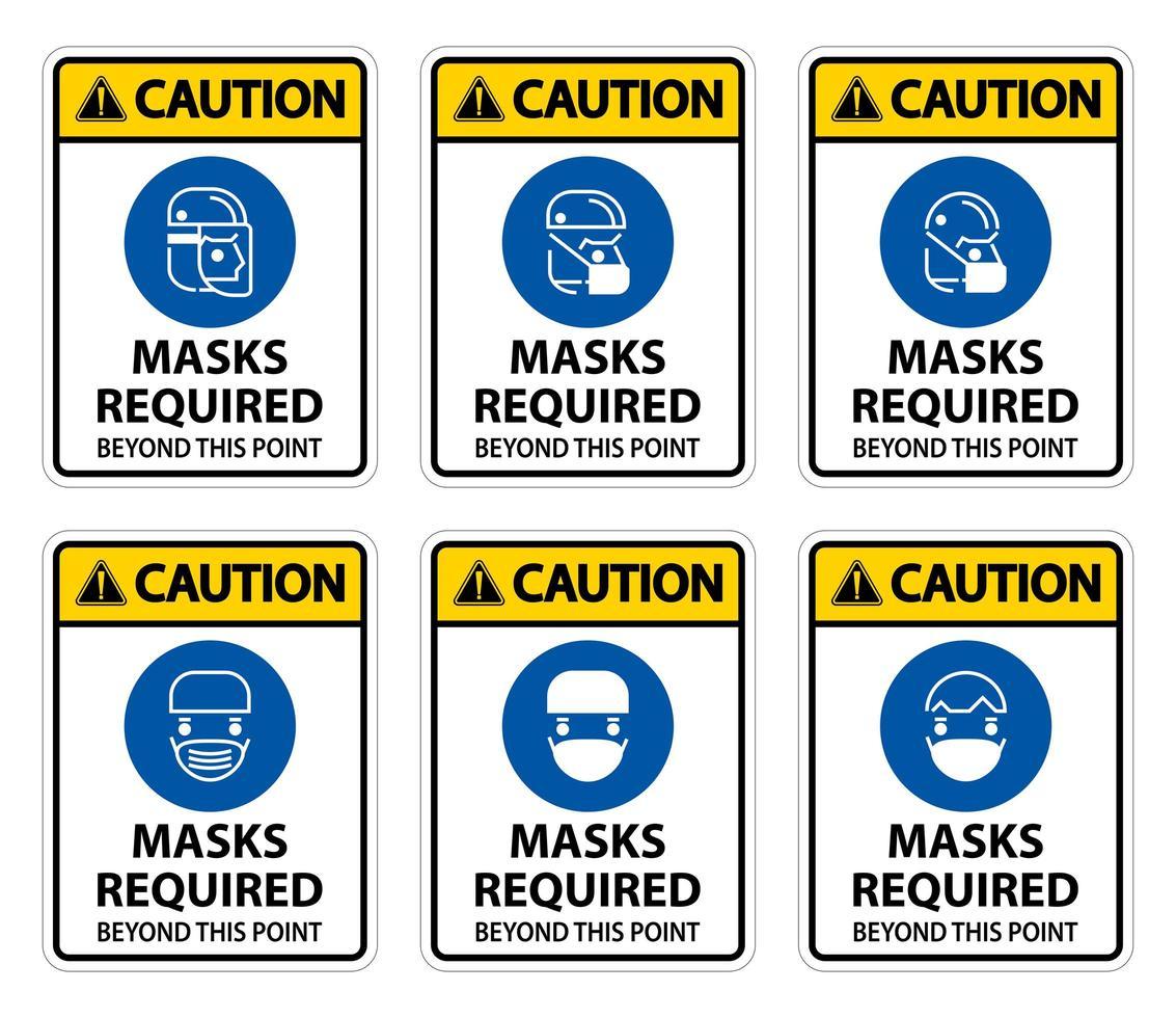masque de mise en garde requis vecteur