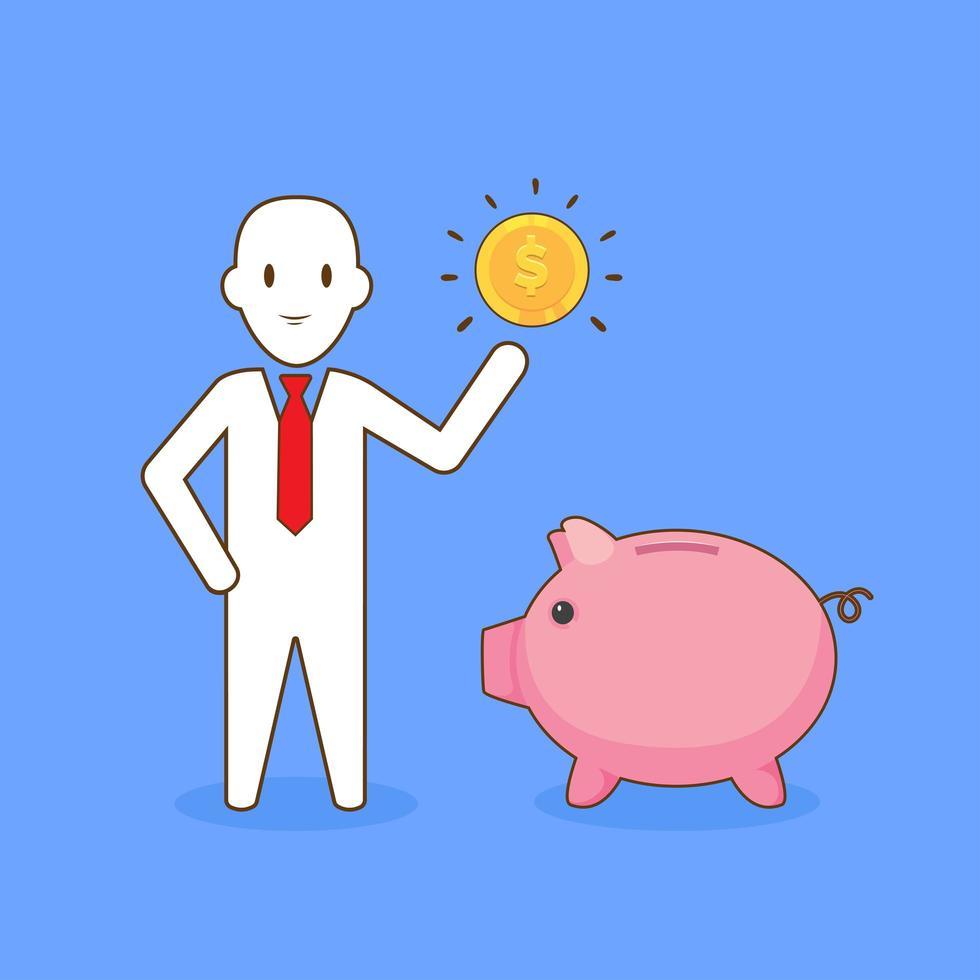 homme d'affaires, économiser de l'argent vecteur