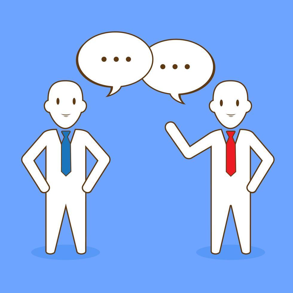 homme d'affaires, parler aux clients vecteur