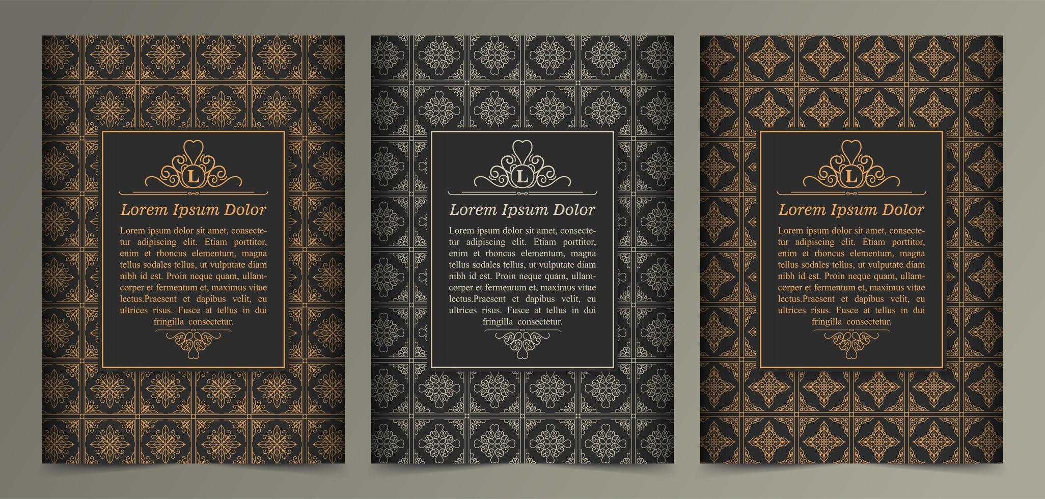 carte de voeux ornement vintage vecteur