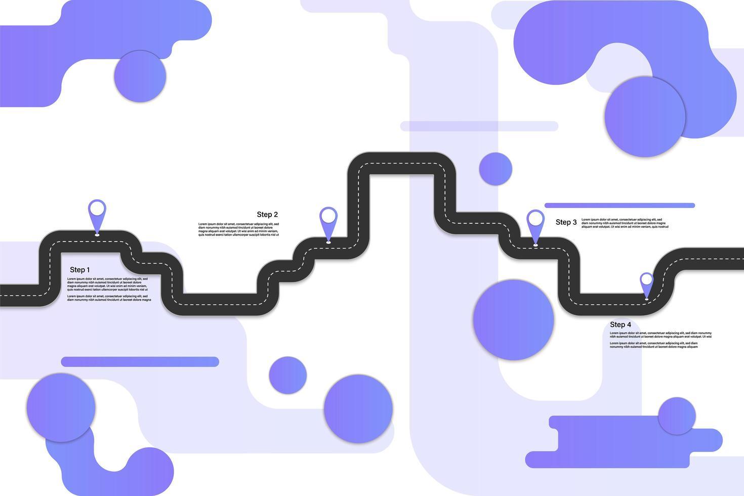 infografica viaggio geometrico stile moderno vettore