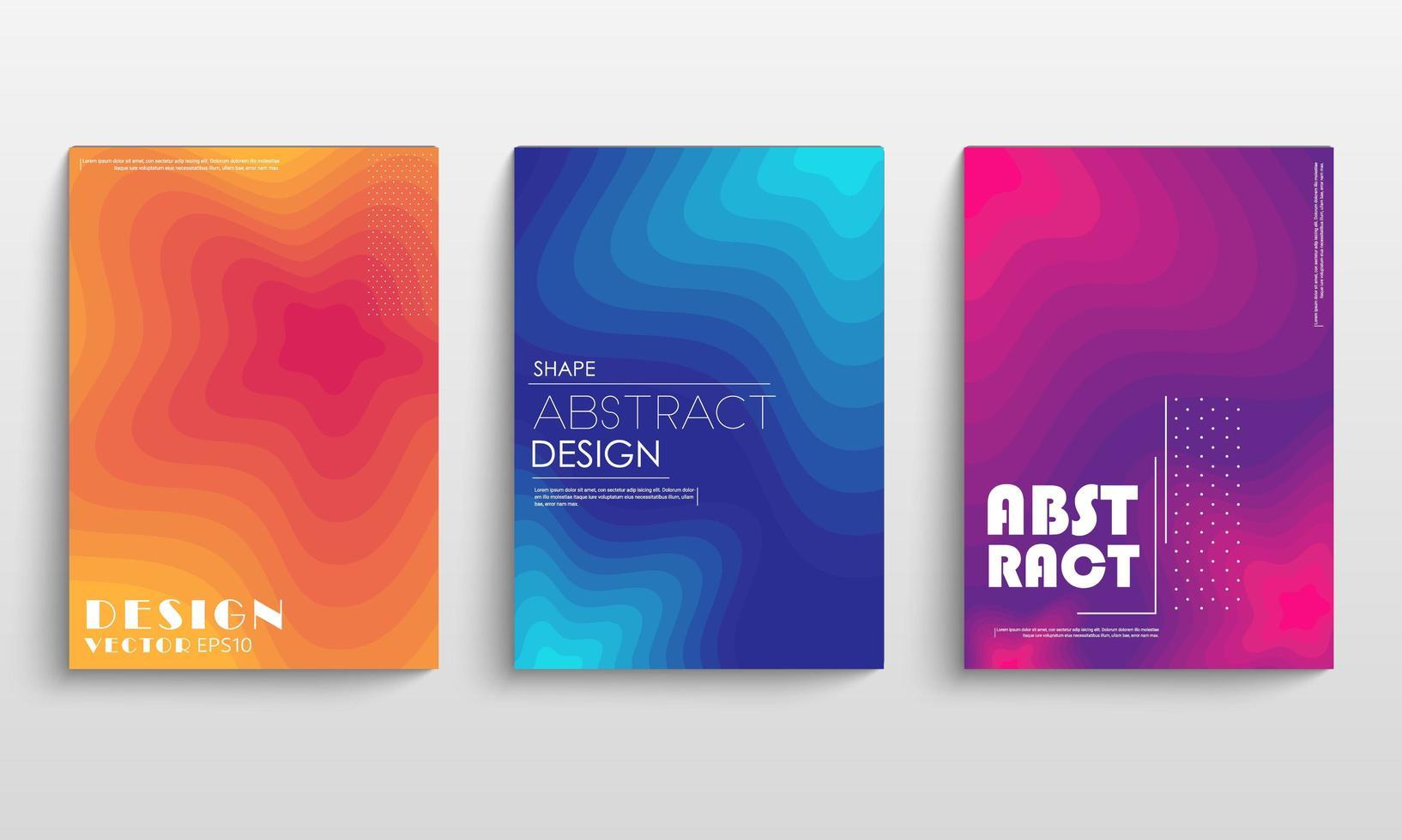 set di copertina dinamica gradienti colorati vettore