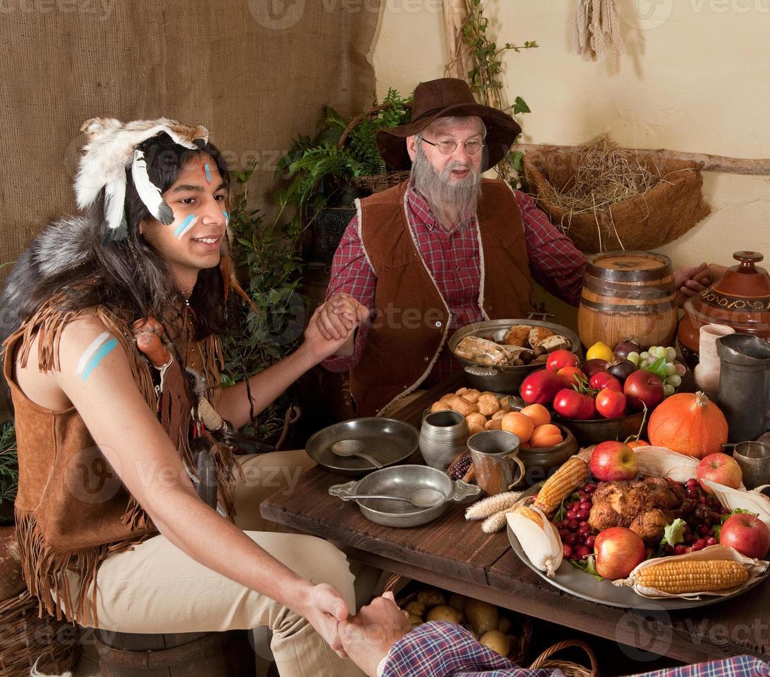 Thanksgiving pilgrims reenactment photo