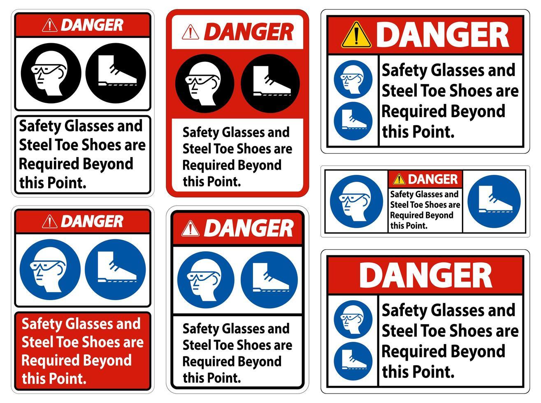 occhiali di sicurezza vettore
