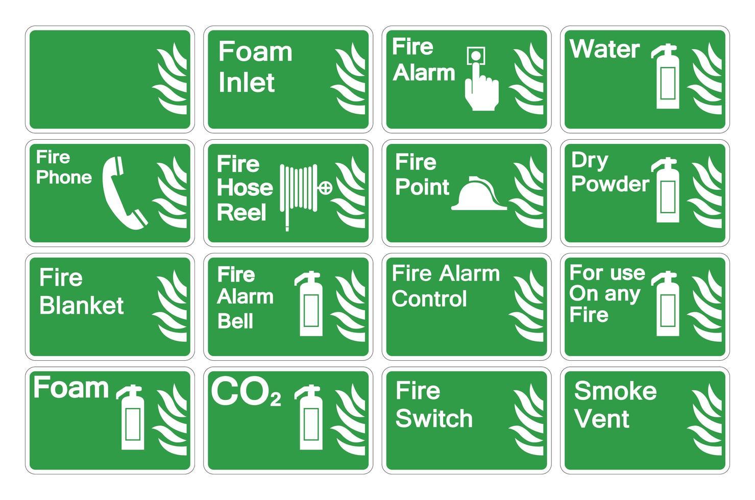 Feuerzeichen setzen vektor