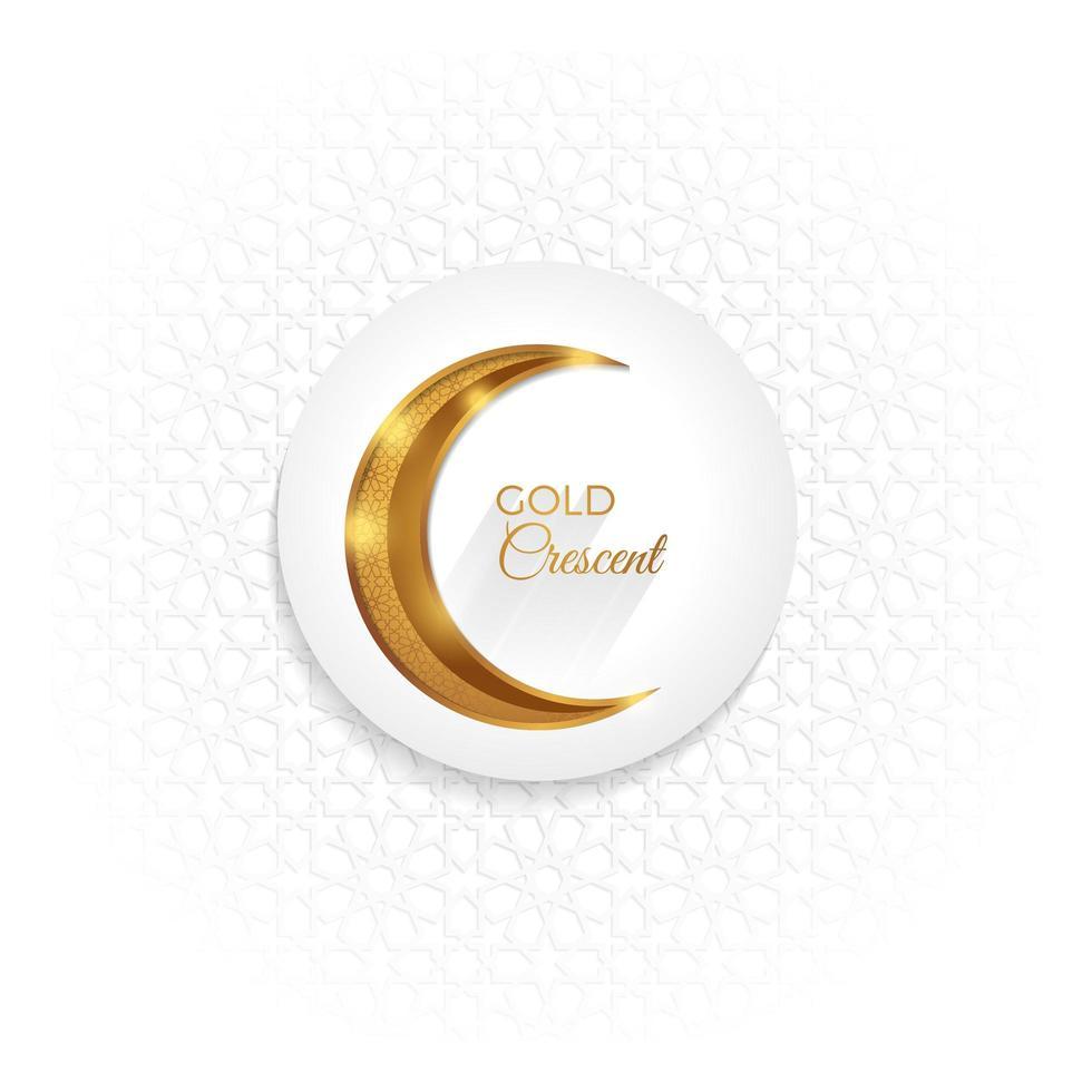 mezzaluna d'oro islamico vettore